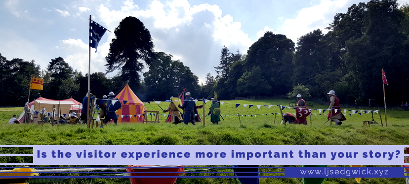 Is the visitor experience more important than your story?