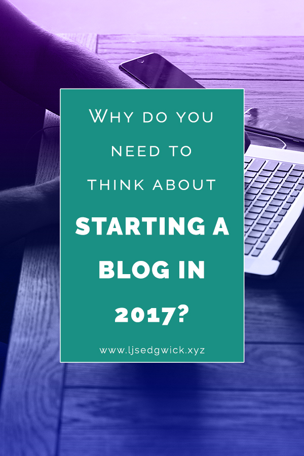 With the discussion around 'content shock' you might think there's no point starting a blog in 2017. This post explains exactly why you should anyway.