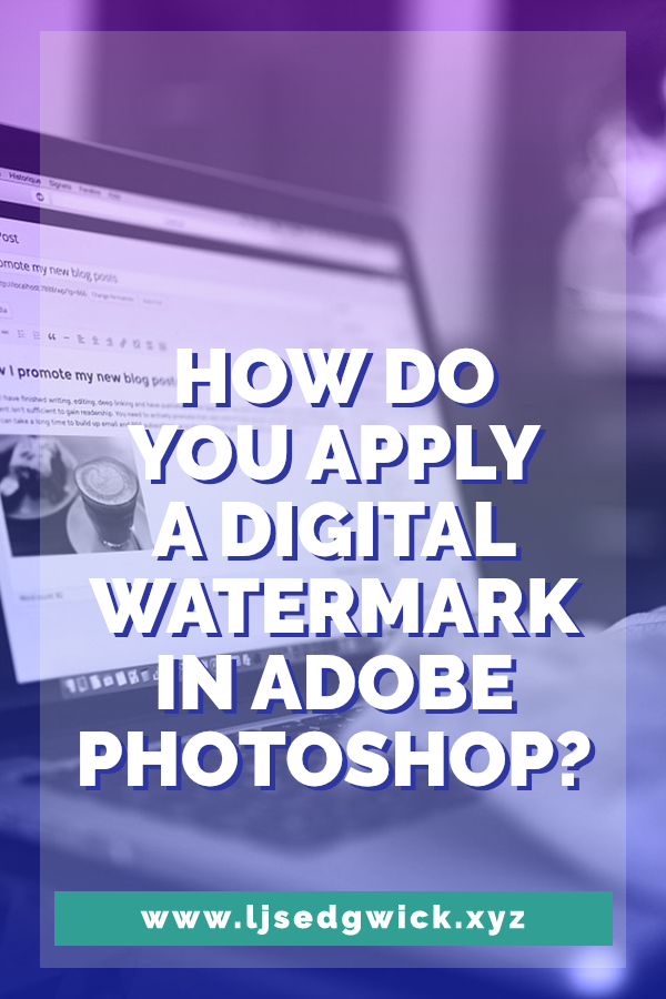 Ever seen images with a subtle digital watermark online and wondered how they were made? This guide shows you how to make your own in Photoshop!