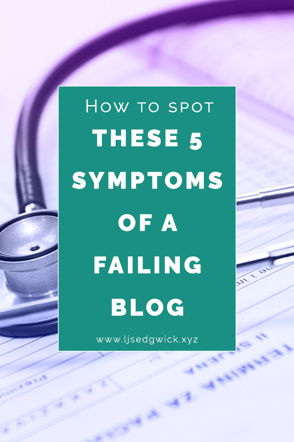 You know you need your blog, but it's not quite wowing your visitors. Spot these 5 common symptoms of a failing blog and give your content a shot!