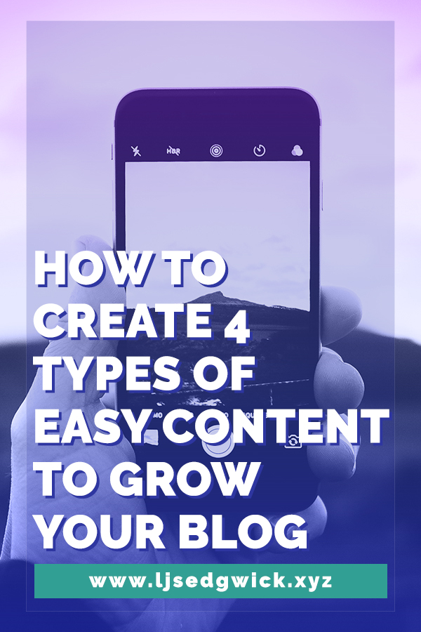 Your blog doesn't need to rely solely on written posts. Let's look at 4 types of easy content that can really help to grow your blog - and find new leads.