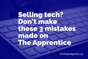 On The Apprentice UK, contestants had to sell robots. They made 3 crucial mistakes. Find out what they are - and how to avoid them in your own marketing!